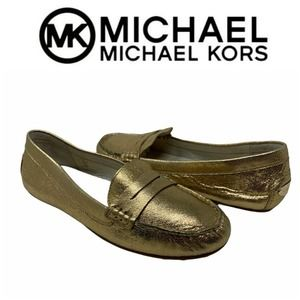 Michael Kors Daisy Leather Loafers Moccasins 7.5